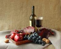 Aún-vida con el vidrio de vino rojo Imagen de archivo
