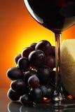 Aún-vida con el vino rojo Foto de archivo libre de regalías