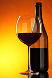 Aún-vida con el vino rojo Imágenes de archivo libres de regalías