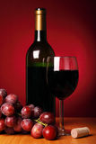 Aún-vida con el vino rojo Fotografía de archivo libre de regalías