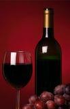 Aún-vida con el vino rojo Foto de archivo