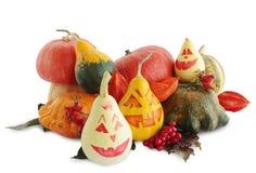 Aún-vida con Halloween pintado Imagen de archivo