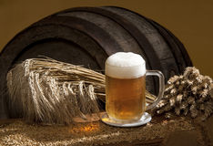 Aún-vida con la cerveza Fotografía de archivo