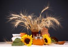 Aún-vida con la comida fresca natural Imagen de archivo