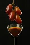 Aún-vida con la uva y la copa Fotografía de archivo