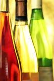 Aún-vida con las botellas de vino Foto de archivo libre de regalías