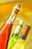 Aún-vida con las botellas de vino Fotografía de archivo