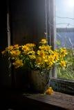 Aún-vida con las flores amarillas Fotos de archivo