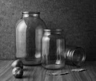 Aún-vida con las latas vacías Fotografía de archivo libre de regalías