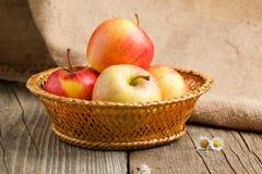 Aún-vida con las manzanas Fotos de archivo libres de regalías