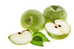 Aún-vida con las manzanas verdes Fotos de archivo libres de regalías
