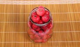 Aún-vida con las pequeñas manzanas rojas frescas Imágenes de archivo libres de regalías