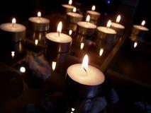 Aún-vida con las velas Fotografía de archivo