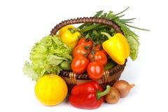 Aún-vida con las verduras frescas Foto de archivo