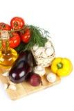 Aún-vida con las verduras frescas Fotos de archivo libres de regalías