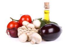 Aún-vida con las verduras frescas Imagen de archivo