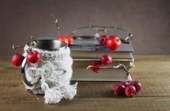 Aún-vida con los libros Foto de archivo libre de regalías