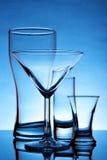 Aún-vida con los vidrios Imagen de archivo