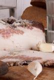 Aún-vida con manteca de cerdo y vodka Fotografía de archivo libre de regalías
