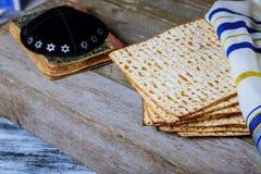 Aún-vida con pan judío del passover del matzoh Fotos de archivo