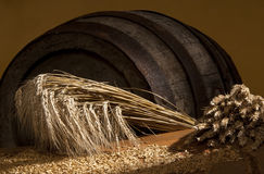 Aún-vida con trigo Fotos de archivo libres de regalías