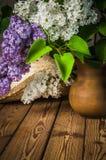Aún-vida con un ramo de lila Fotos de archivo