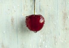 Aún-vida con una cereza Fotografía de archivo