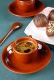 Aún-vida con una taza de café Foto de archivo libre de regalías