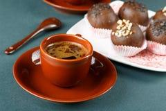 Aún-vida con una taza de café Imagen de archivo libre de regalías