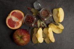 Aún-vida de comidas rurales Imagen de archivo