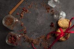 Aún-vida de comidas rurales Imágenes de archivo libres de regalías