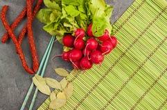 Aún-vida de comidas rurales Foto de archivo