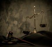Aún-vida de la capa del juez Imagen de archivo libre de regalías