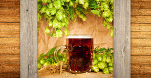 Aún-vida de la cerveza Fotografía de archivo libre de regalías