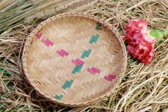 Aún-vida de la cesta de Bammboo Imagenes de archivo