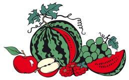 Aún-vida de la fruta stock de ilustración