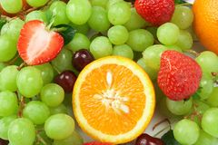 Aún-vida de la fruta fresca Imagen de archivo libre de regalías