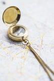Aún-vida de la navegación con un mapa Fotografía de archivo