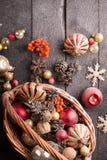 Aún-vida de la Navidad Imagen de archivo