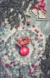 Aún-vida de la Navidad Fotografía de archivo libre de regalías