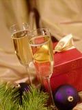Aún-vida de la Navidad con el champaigne Fotos de archivo libres de regalías