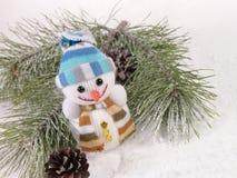 Aún-vida de la Navidad con el muñeco de nieve Imagen de archivo libre de regalías