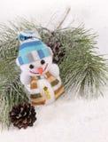 Aún-vida de la Navidad con el muñeco de nieve Imágenes de archivo libres de regalías