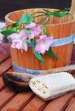 Aún-vida de la sauna Foto de archivo libre de regalías