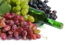 Aún-vida de la uva y del vino Fotos de archivo libres de regalías