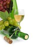 Aún-vida de la uva y del vino Foto de archivo