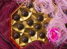 Aún-vida de los chocolates Imagenes de archivo