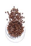 Aún-vida de los granos de café Imagen de archivo libre de regalías