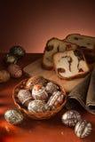 Aún-vida de los huevos de Pascua Imagen de archivo