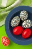Aún-vida de los huevos de Pascua Fotos de archivo libres de regalías